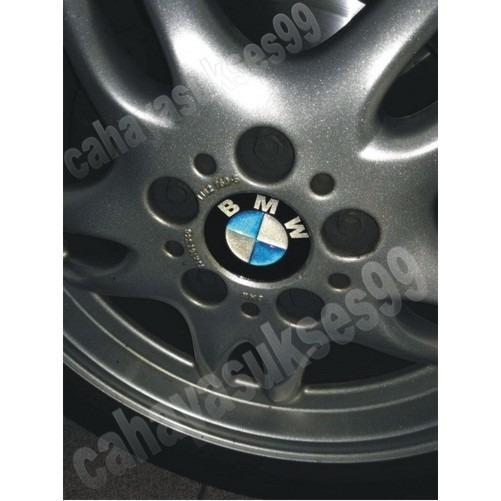 Sticker Timbul Tutup Dop Velg Mobil BMW Stiker Emblem Resin Tebal Exclusive Reflective Aksesoris WheelDop Decal Striping Reflective Bulat 7cm
