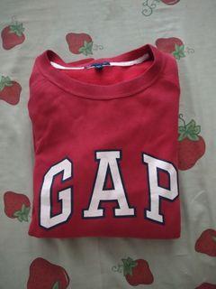 Sweater crewneck gap maroon ukuran m