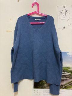Teafor2 莫蘭迪藍毛衣