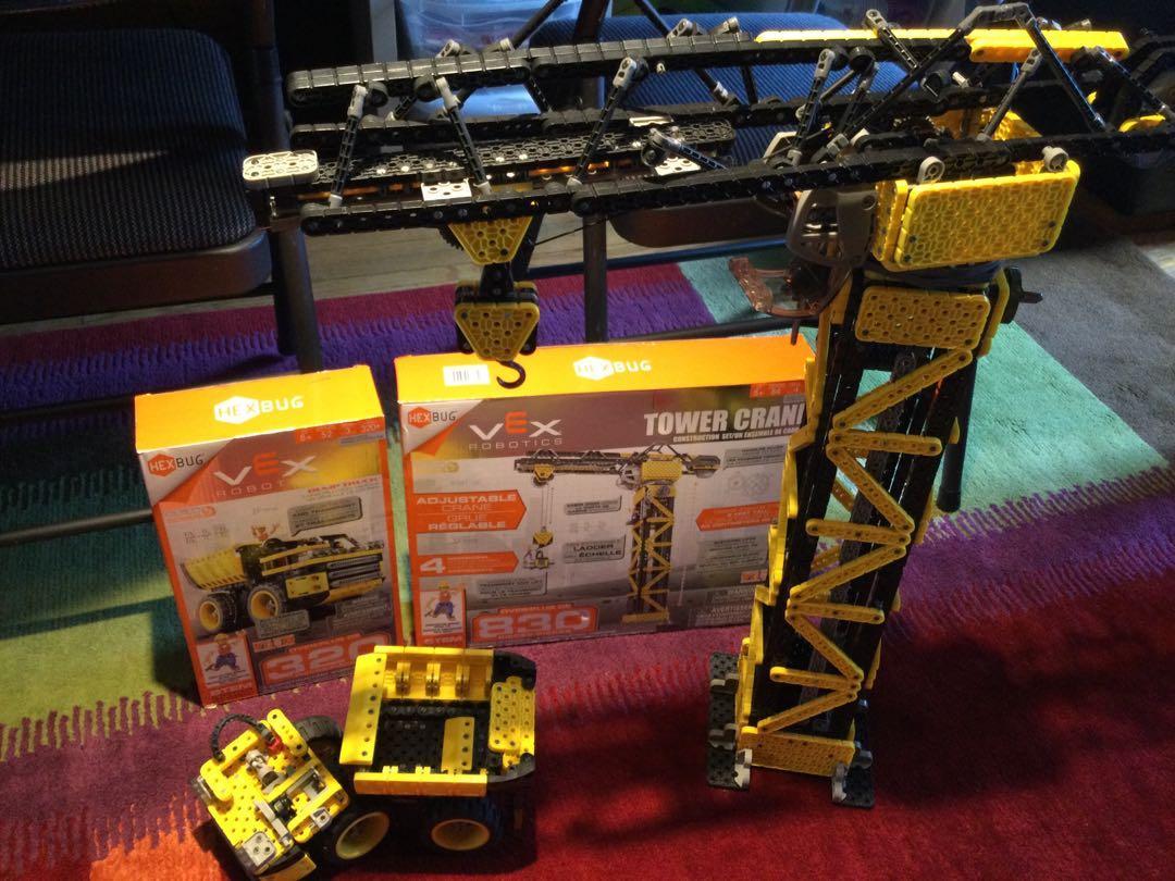 Vex crane and dump truck -$40