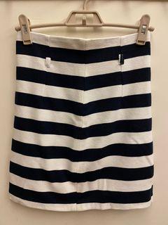 正韓條紋窄裙