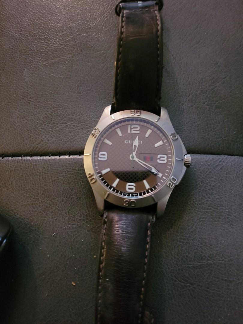 AUTHENTIC GUCCI WATCH: NEEDS NEW WRISTBAND + BATTERY
