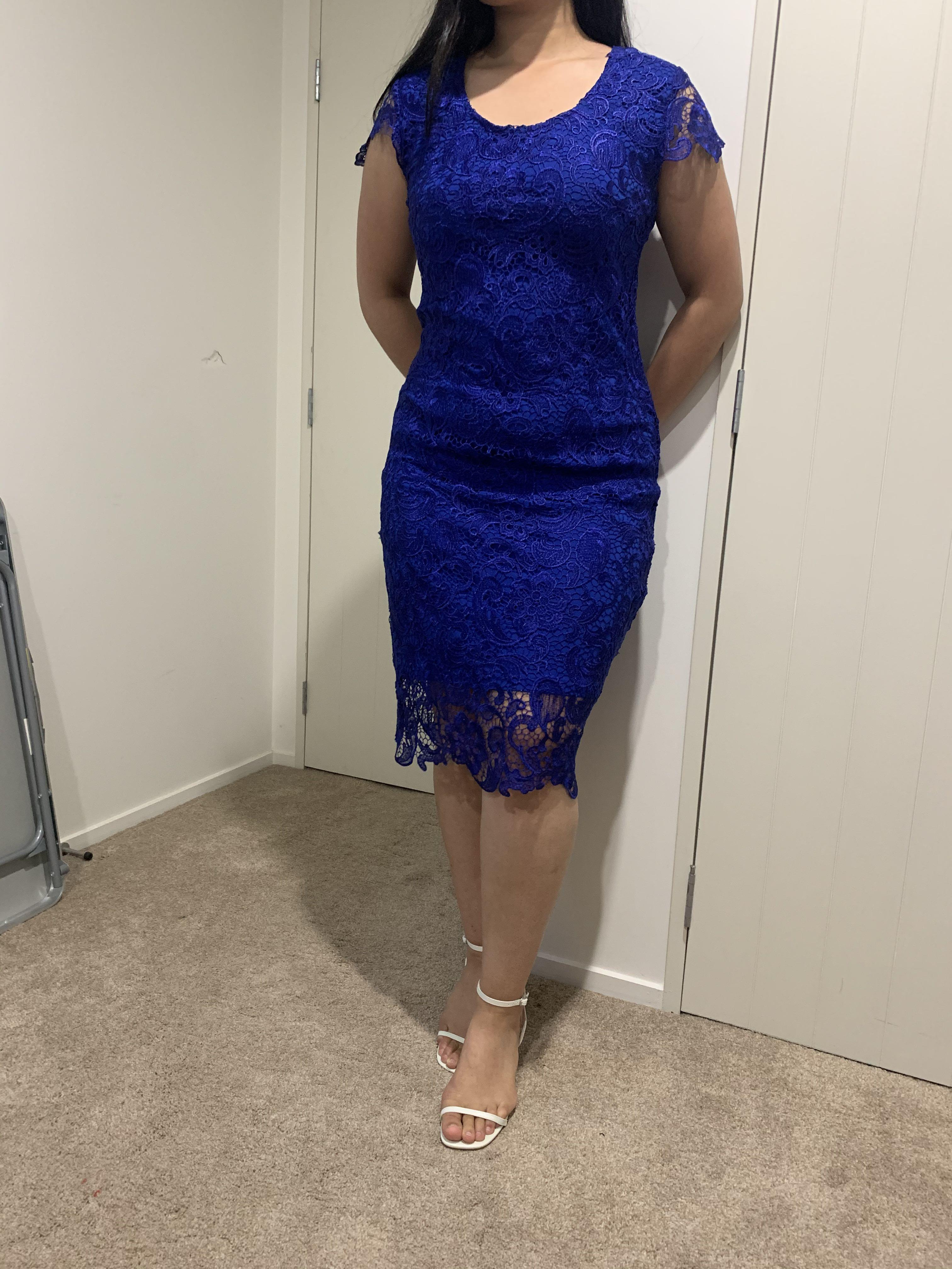 Beautiful blue lace dress, perfect for work functions coming up!