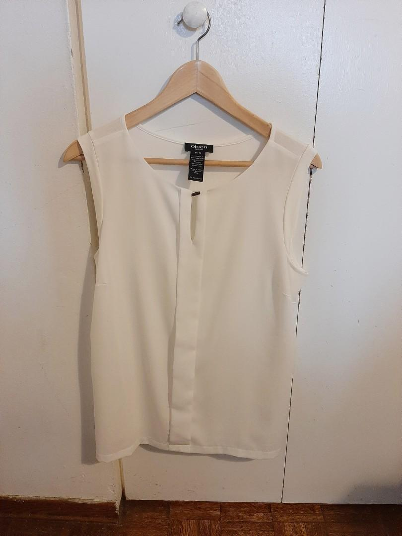 Beautiful White TOP by Olsen Europe
