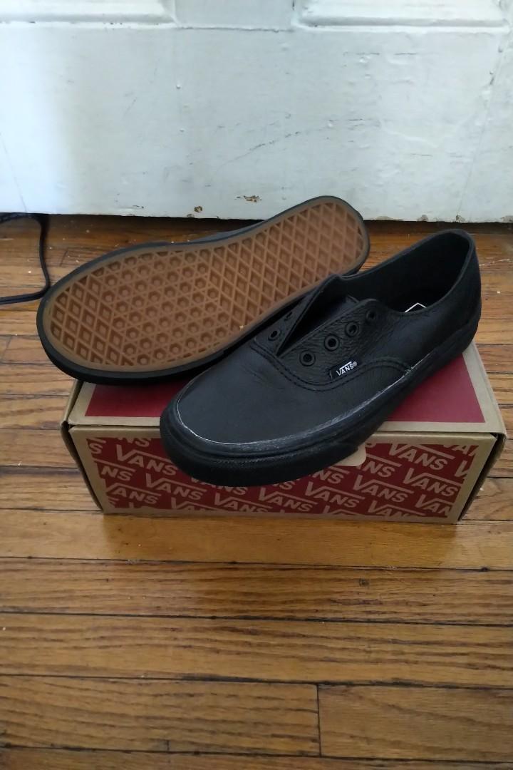 BNIB Vans Leather Authentic