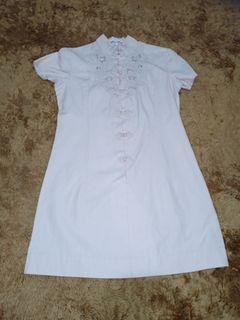 Dress import warna krem