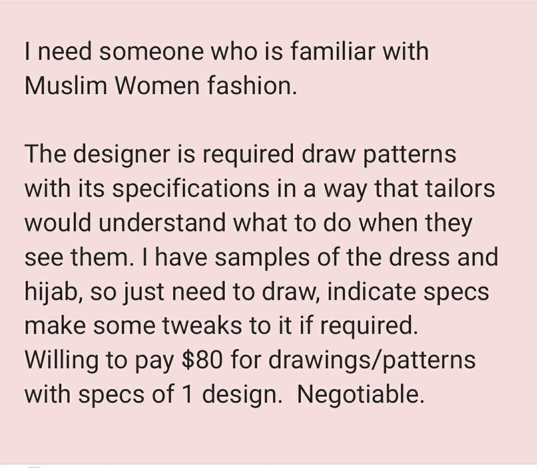 Fashion Design Rendering Required