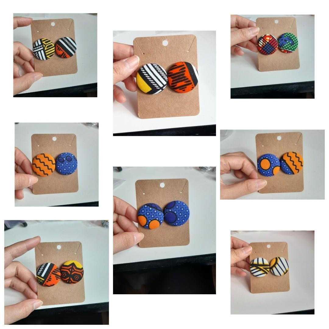 African fabric/Ankara/Hand Made/Earrings