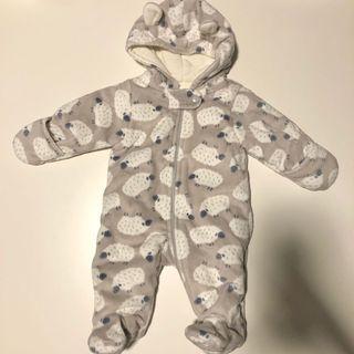 Newborn's winter footed one-piece