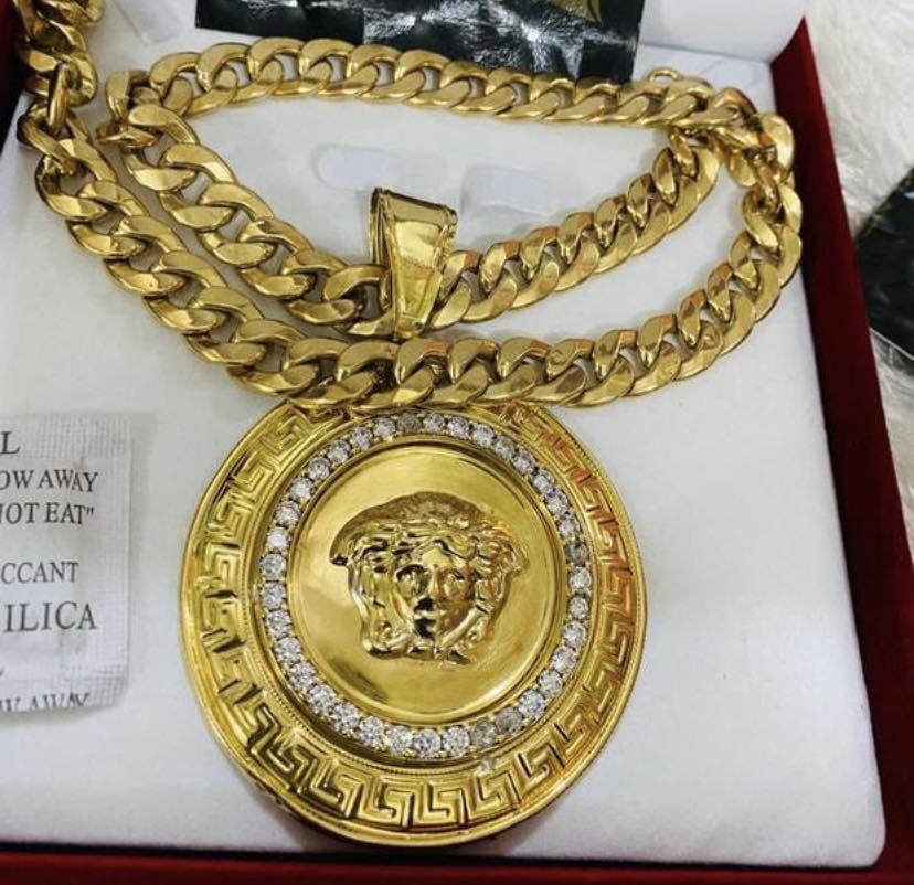 Versace 18 karat gold chain