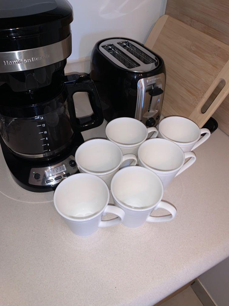 6x Unused coffee mugs