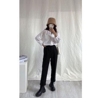 超親膚保暖黑色西裝褲 S號