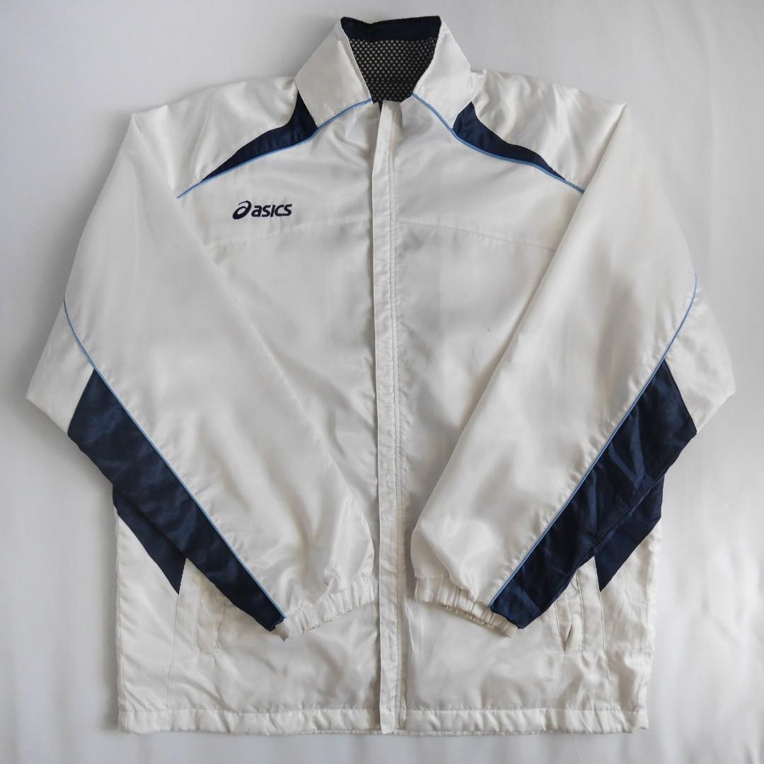ASICS Windbreaker Jacket (White/Blue)