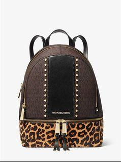 Authentic New Michael Kors Leopard Backpack