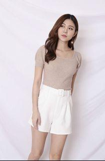 BREDA EVERY DAY HIGH WAISTED SHORTS IN WHITE
