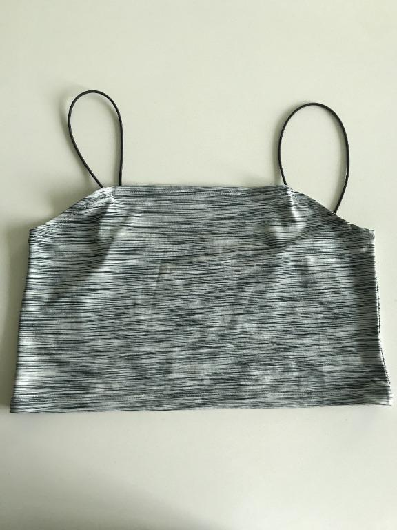 EMODA Grey Crop Top Purchased in Japan Like new condition Japanese brand EMODA Grey crop top stretchy material No size but probably a small or medium Measurements available upon request