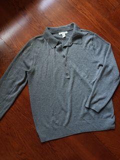 H&M Gray Soft Thin Sweater size UK XS