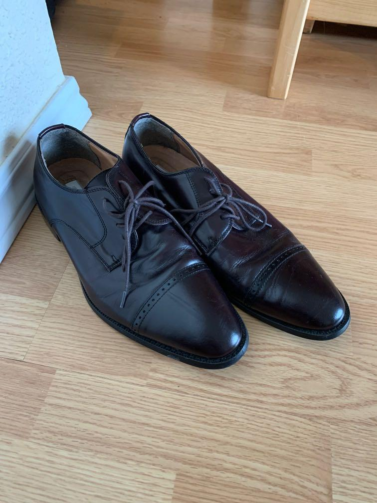 Joseph Abboud ox blood leather shoes