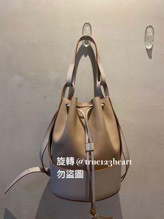 Loewe Ballon bag 氣球包 奶茶/淺灰拼色 中號 小牛皮