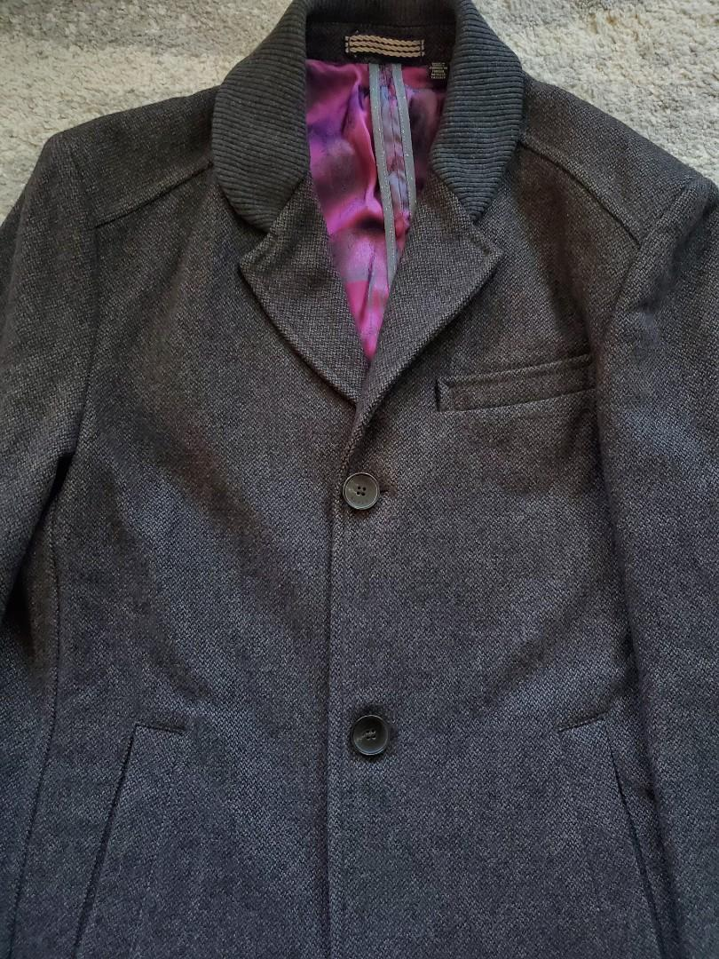 Men's Ted Baker Wool Coat