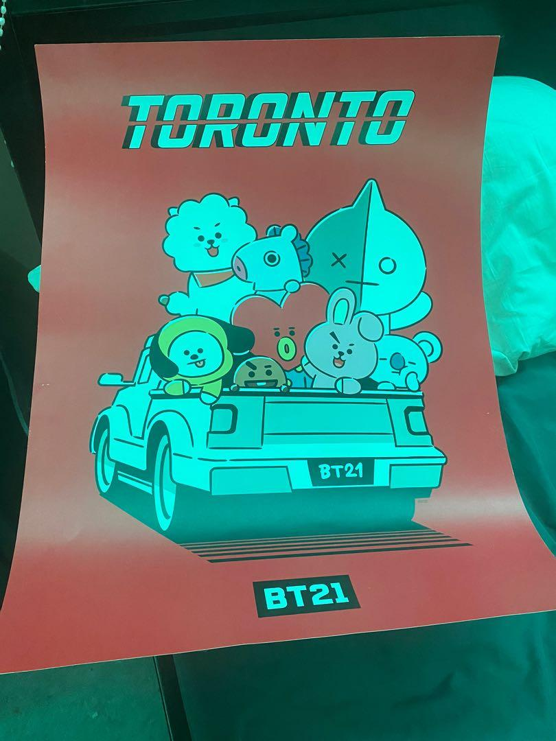 OFFICIAL BT21 LE TORONTO POSTER