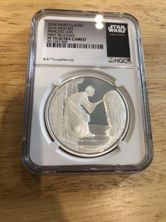 Star Wars Princess Leia Silver Coin (Niue)