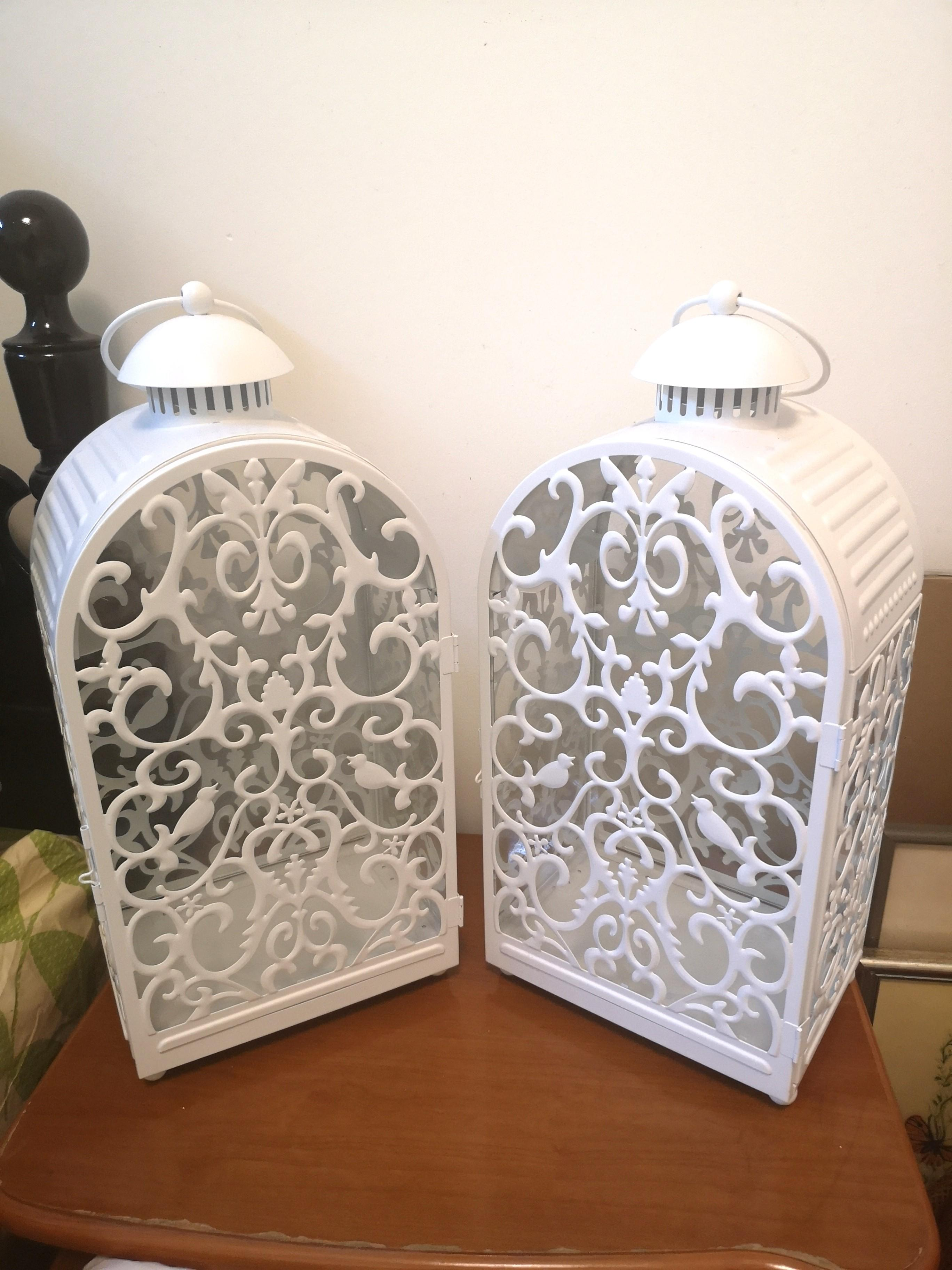 Big White Candle Holders Decor X 2 Home Furniture Home Decor On Carousell