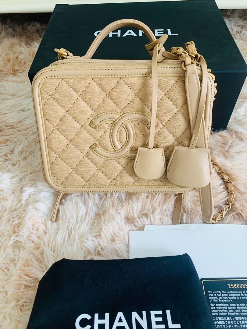 Chanel filigree Vanity Case