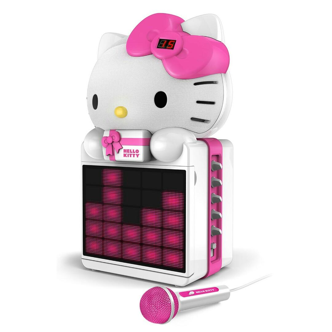 HELLO KITTY CD+G KARAOKE SYSTEM WITH LED LIGHT SHOW AND P3,MP4+G PLAYBACK