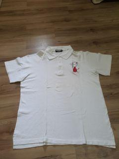 Kaos polo pria putih
