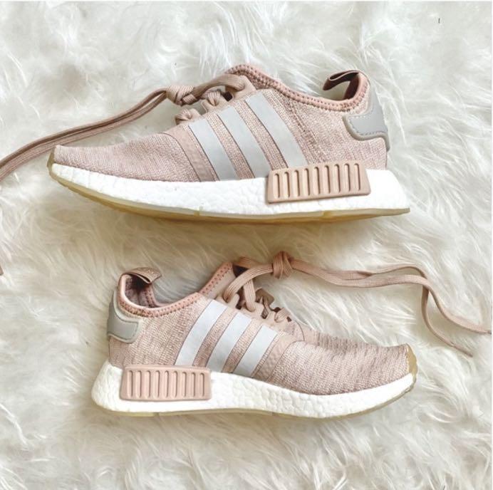 Women's Adidas NMD R1 Light Pink & Grey