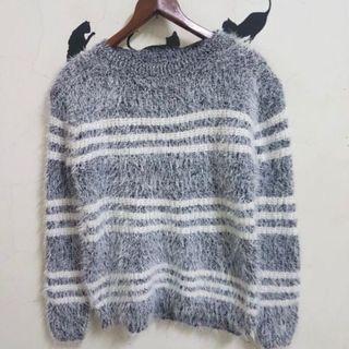條紋毛衣  毛衣