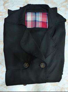 長版綁帶西裝外套( 薄 )