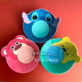迪士尼 玩具總動員 飯碗 湯碗 熊抱哥 小熊維尼 史迪奇 大頭碗 塑膠碗 餐碗