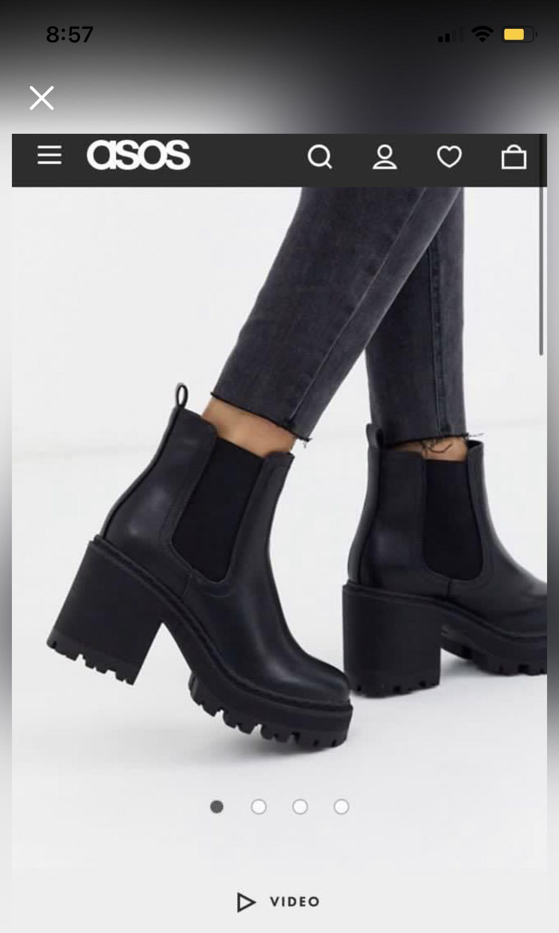 ASOS chunky boots