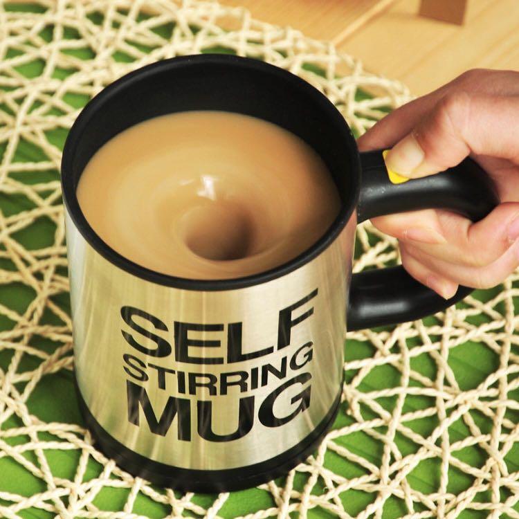 Automatic Self Stirring Coffee Cup / Gelas Otomatis - Silver