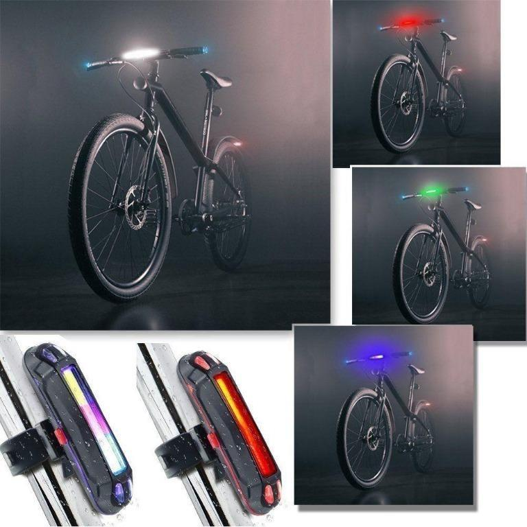 Self-Powered Bicycle LED Rear Light Ultra Bright Mountain Bike Safety Taillight