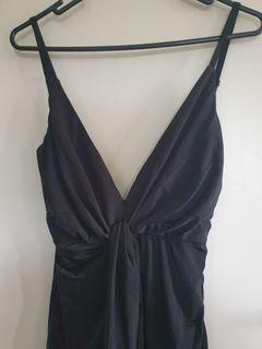 Black twist formal dress