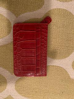 B-Low croc card case