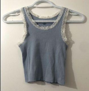 Brandy Melville Blue lace Ronnie tank