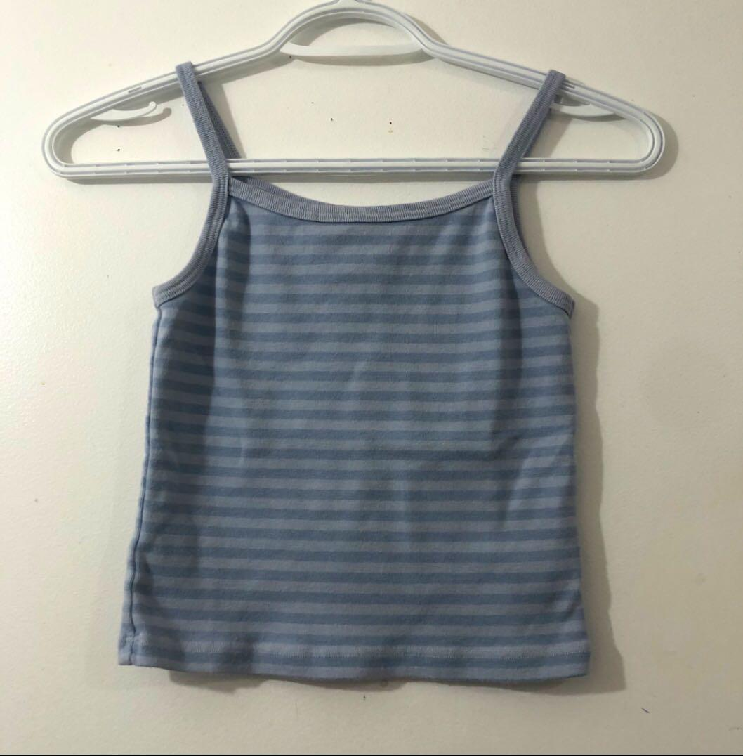 Brandy Melville blue striped belle tank