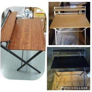 Christmas stock: Computer table with ledge , comes in 3 colors - Christmas stock