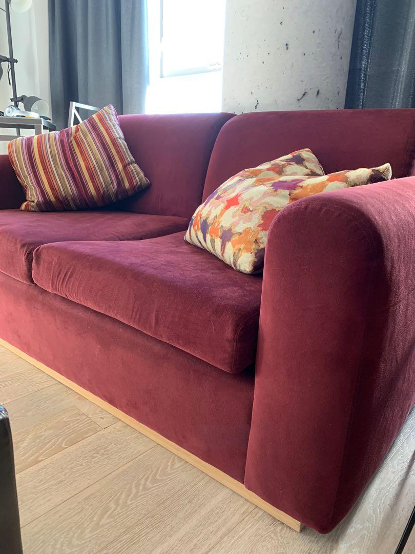 Comfy red couch