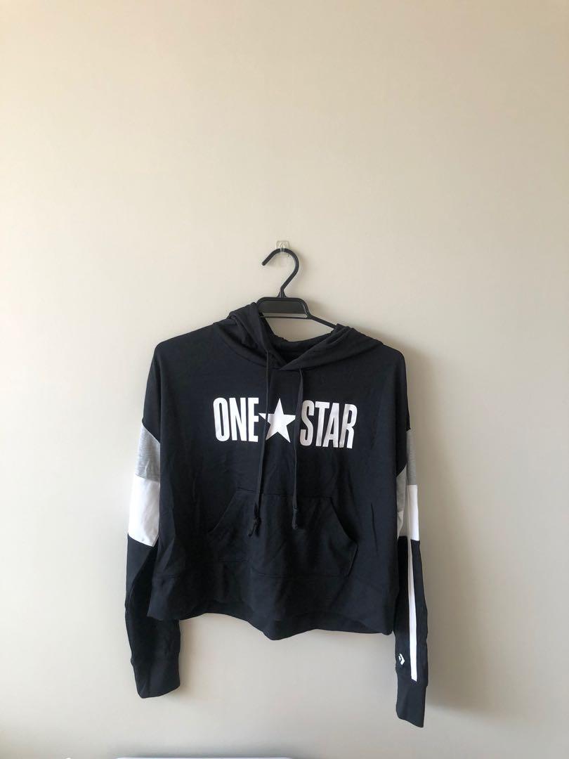 Converse cropped hoodie