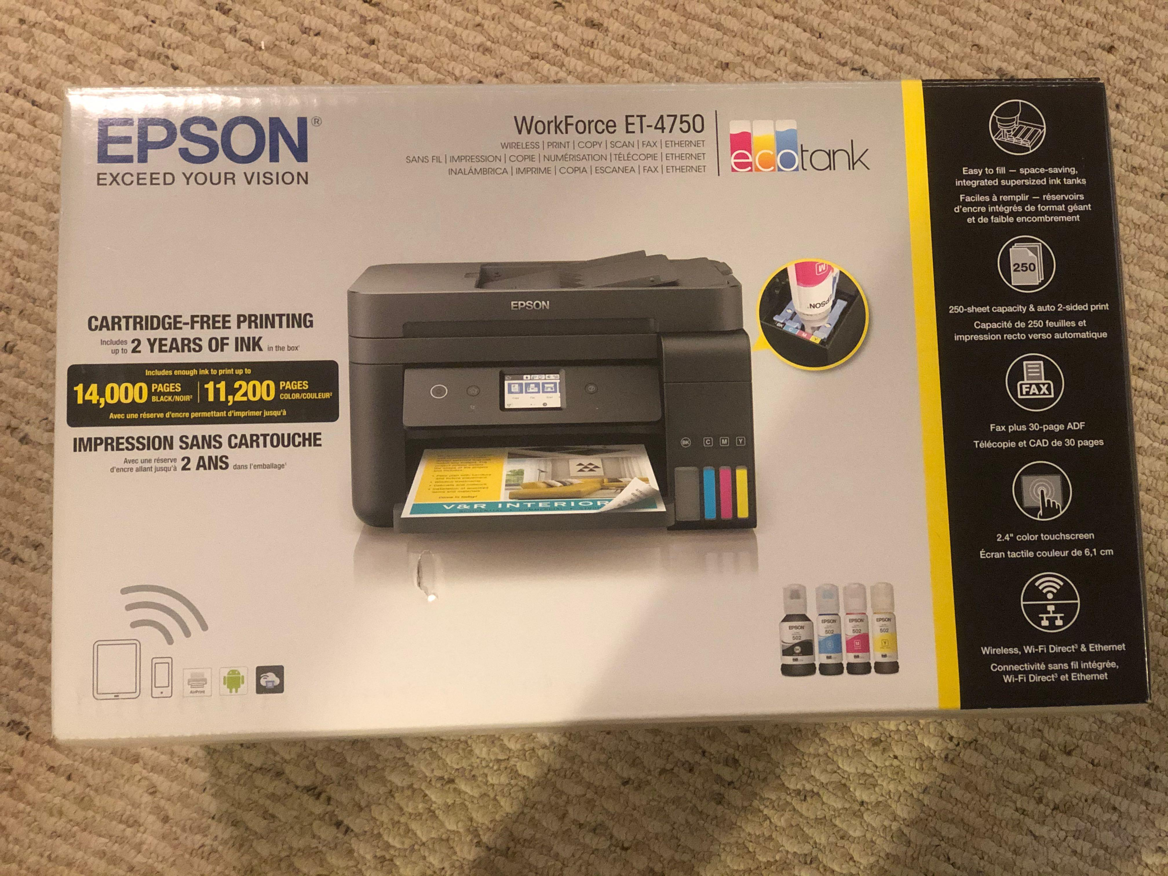 Epson all in one ET-4750 printer