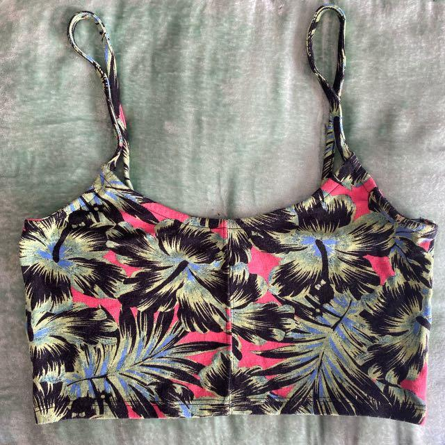 Floral crop by topshop