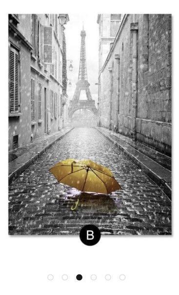 Framed Paris canvas print