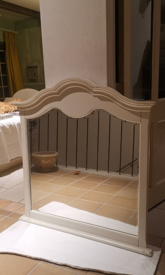 French Shabby Chic Off White Mirror Cermin Home Furniture Furniture On Carousell