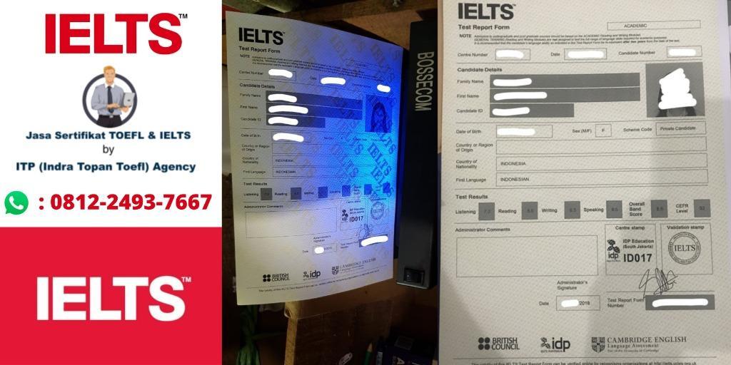 Jasa Sertifikat Toefl dan Ielts Resmi ITP