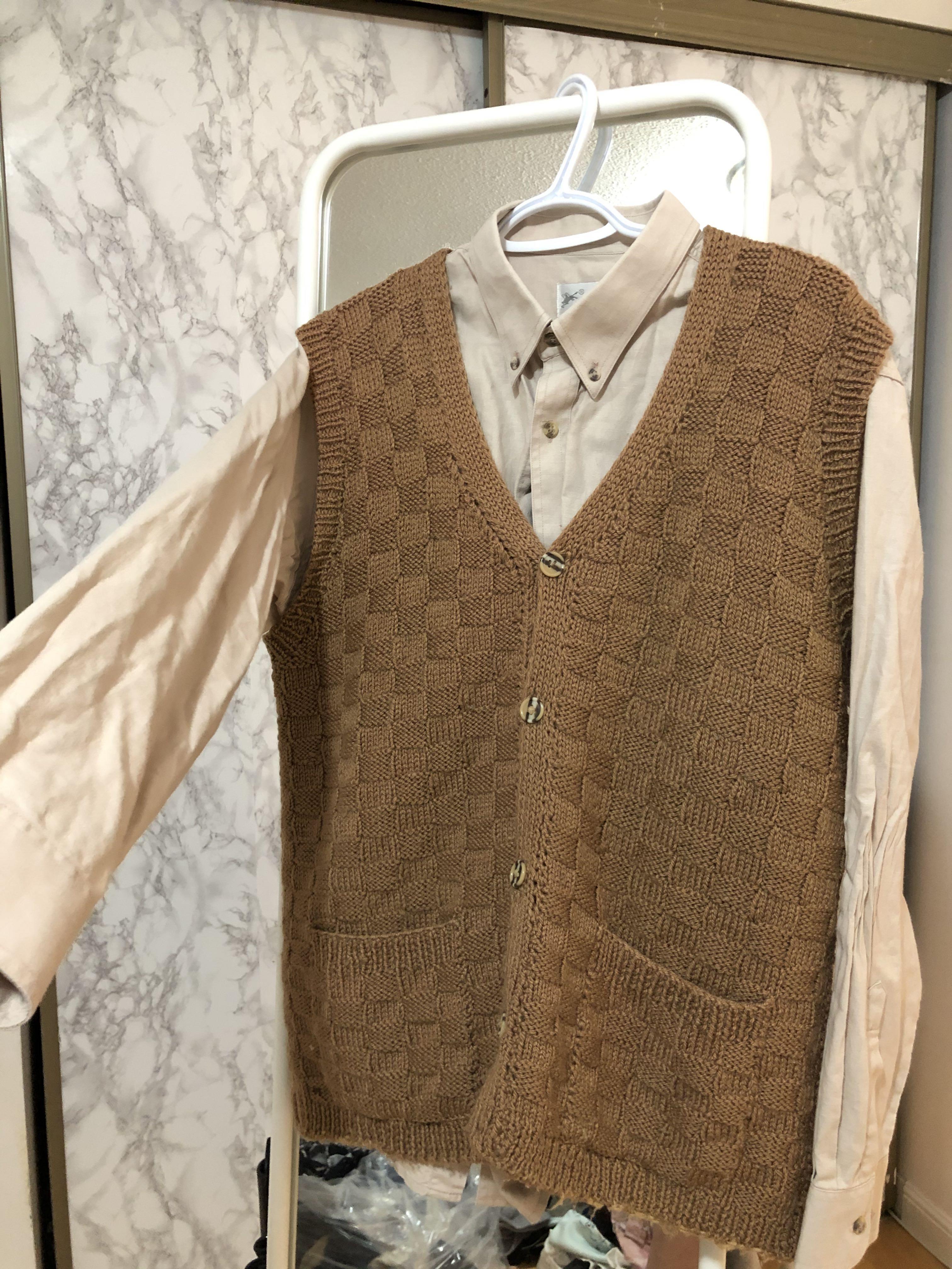 Korean style dress shirt/vest